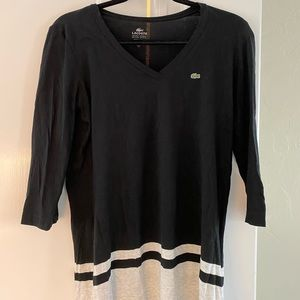 Lacoste 3/4 sleeve tee shirt